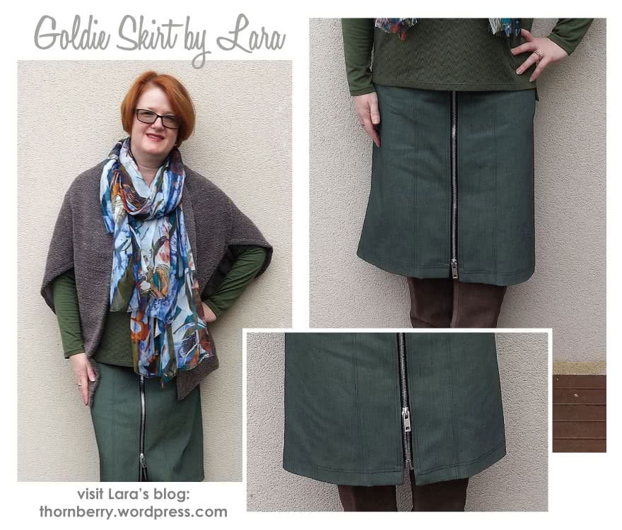 Goldie Woven Skirt Sewing Pattern By Lara And Style Arc - Classic skirt in two lengths with interesting design lines and front openings