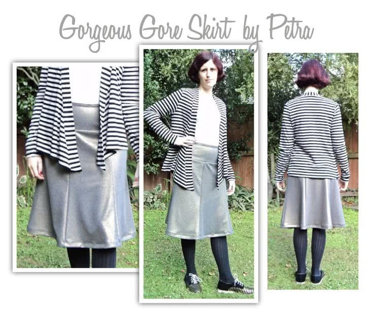 Gorgeous Gore Skirt Sewing Pattern By Petra And Style Arc - Great 6 gore knit jersey pull on skirt