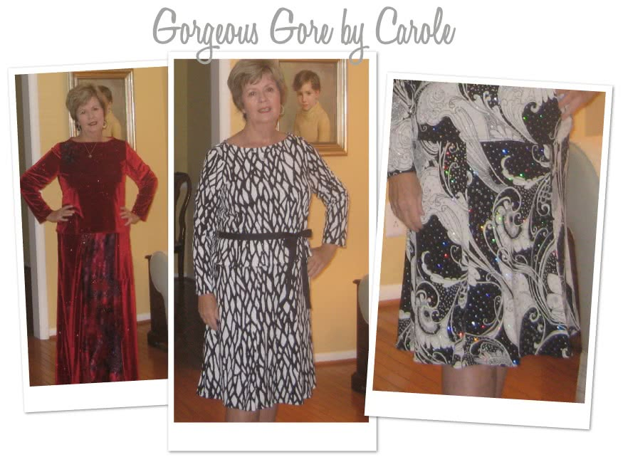 Gorgeous Gore Skirt Sewing Pattern By Carole And Style Arc - Great 6 gore knit jersey pull on skirt