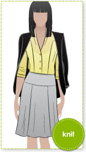 Gorgeous Gore Skirt Sewing Pattern By Style Arc - Great 6 gore knit jersey pull on skirt