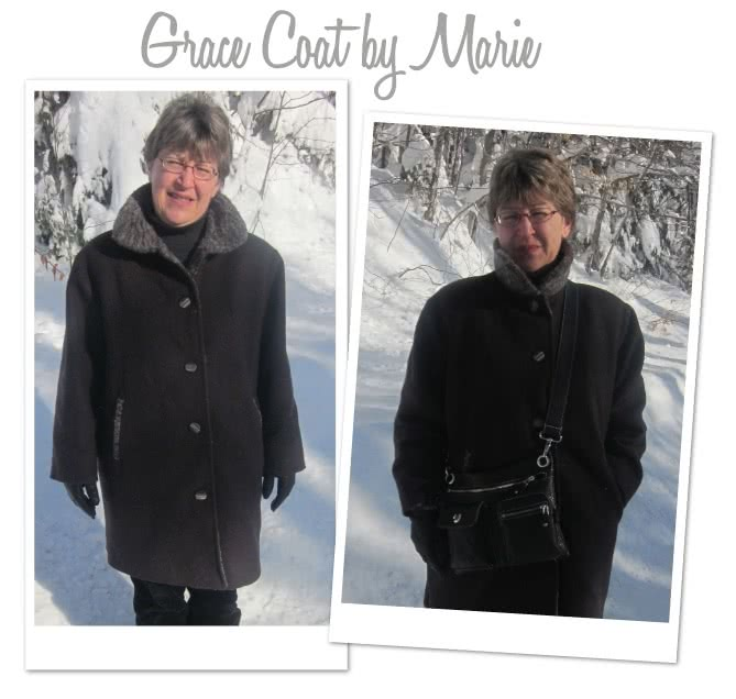 Grace Trans-Seasonal Coat Sewing Pattern By Marie And Style Arc - Easy to wear every day unlined coat for all seasons