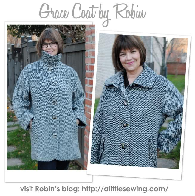 Grace Trans-Seasonal Coat Sewing Pattern By Robin And Style Arc - Easy to wear every day unlined coat for all seasons