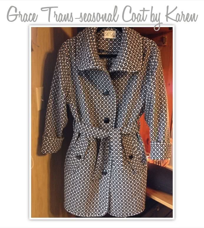 Grace Trans-Seasonal Coat Sewing Pattern By Style Arc - Easy to wear every day unlined coat for all seasons