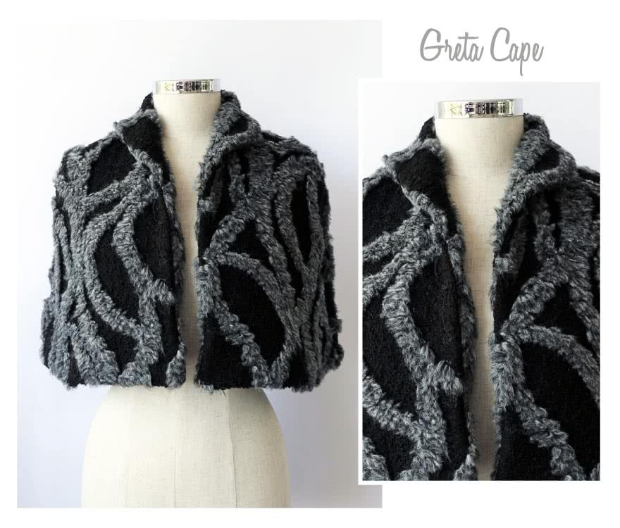 Greta Cape Sewing Pattern By Style Arc - This lined cape is a great though over piece