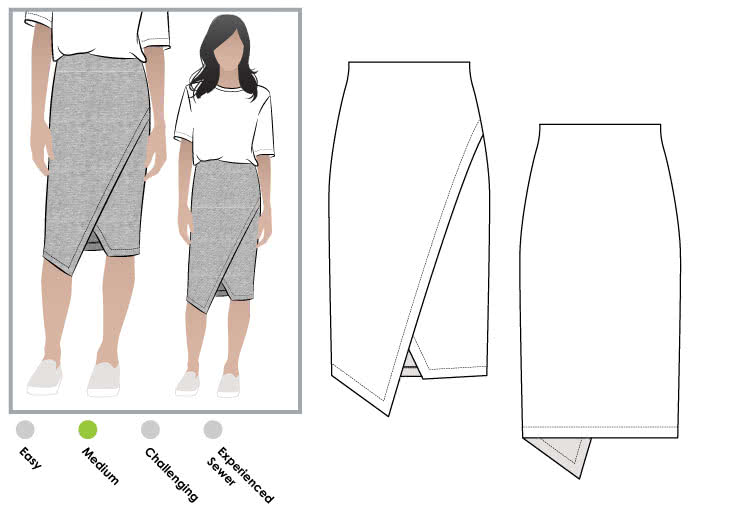 Halle Stretch Skirt PDF – Style Arc