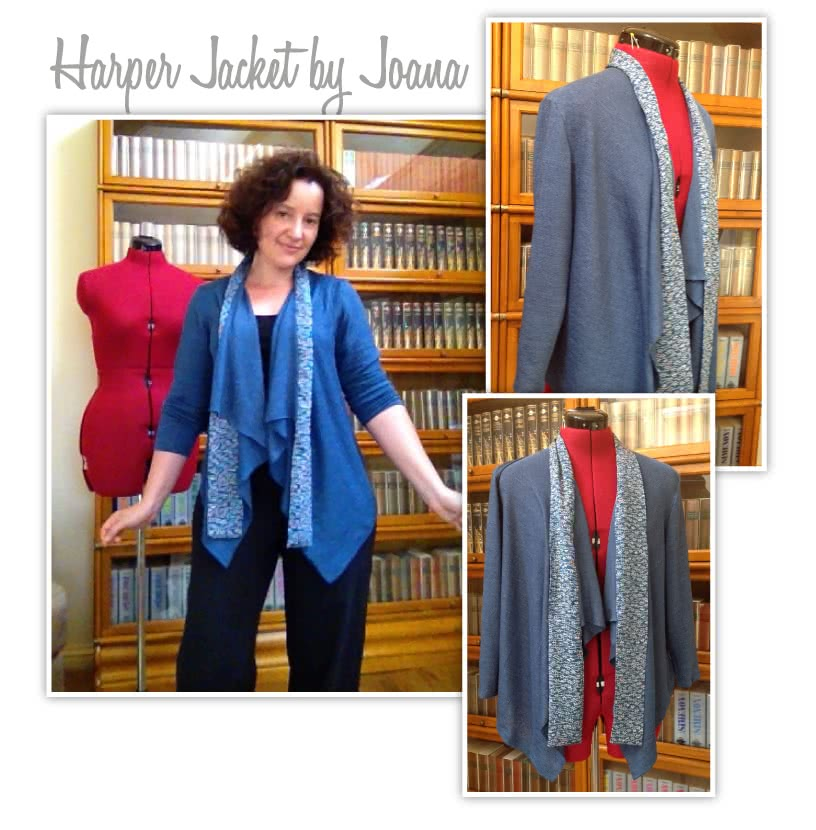 Harper Jacket Sewing Pattern By Style Arc - Easy, throw on waterfall jacket