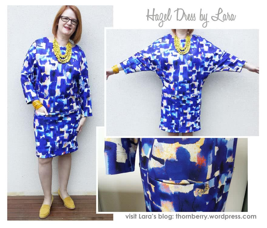 Hazel Combo Sewing Pattern By Lara And Style Arc - Oversized cocoon dress with so many options