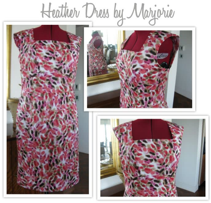 Heather Dress Sewing Pattern By Marjorie And Style Arc - Great day dress with flattering extended shoulder