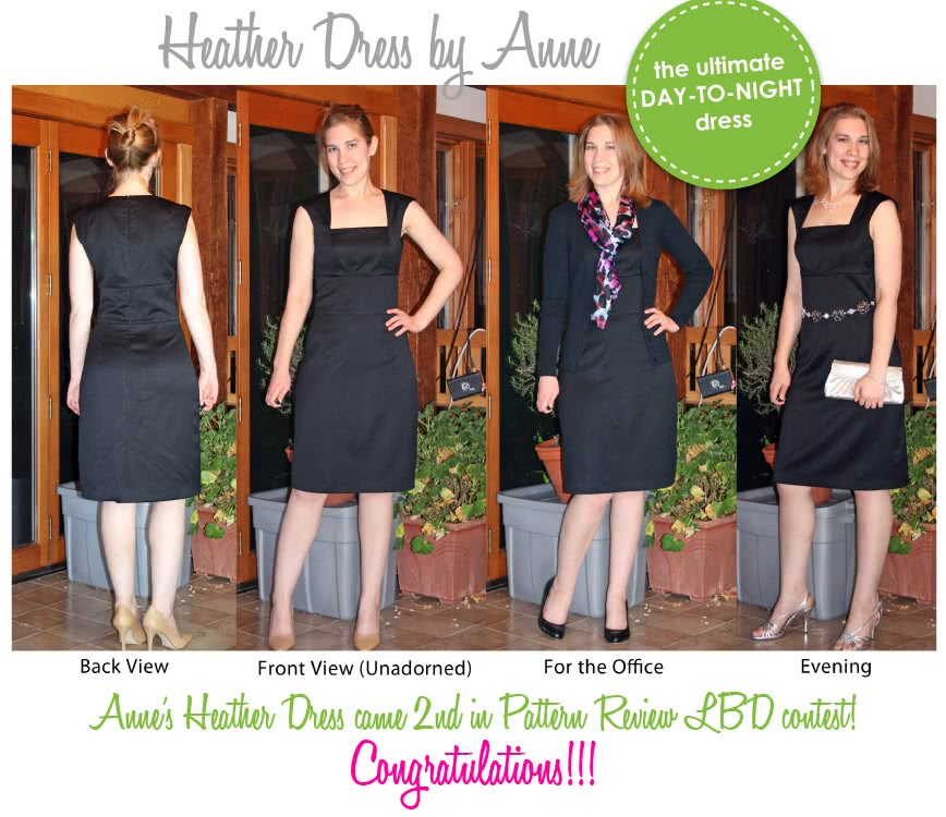 Heather Dress Sewing Pattern By Anne And Style Arc - Great day dress with flattering extended shoulder