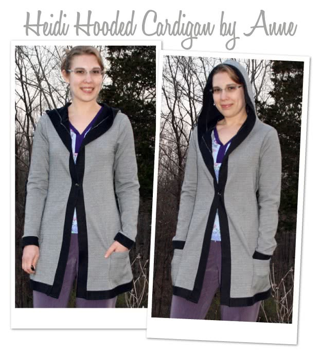 Heidi Hooded Cardi Sewing Pattern By Style Arc