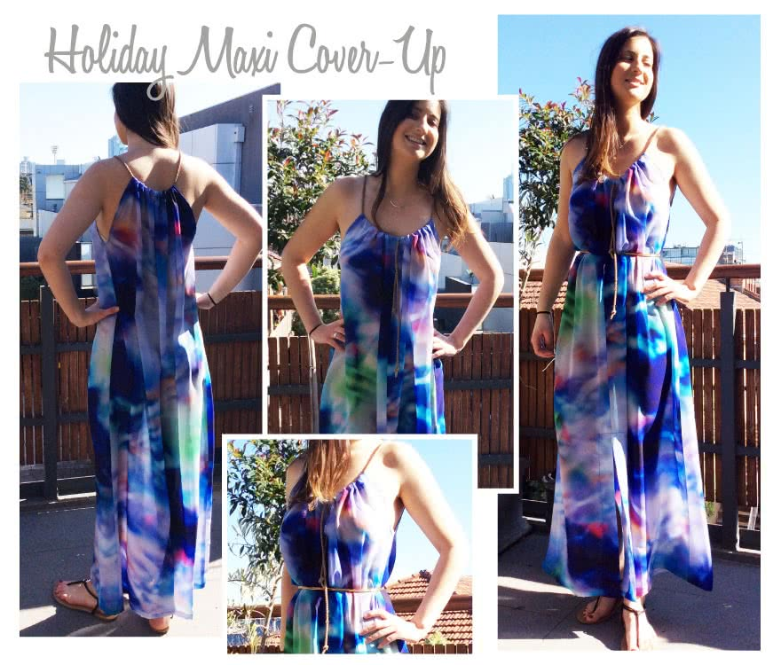 Holiday Maxi Cover Up Sewing Pattern By Style Arc
