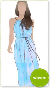 Holiday Maxi Cover Up Sewing Pattern By Style Arc - Keyhole maxi cover up