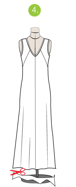 How to level a dress or skirt - Step 4