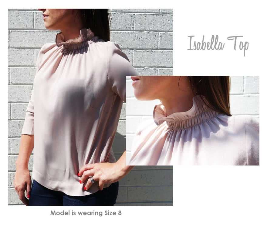Isabella Top Sewing Pattern By Style Arc