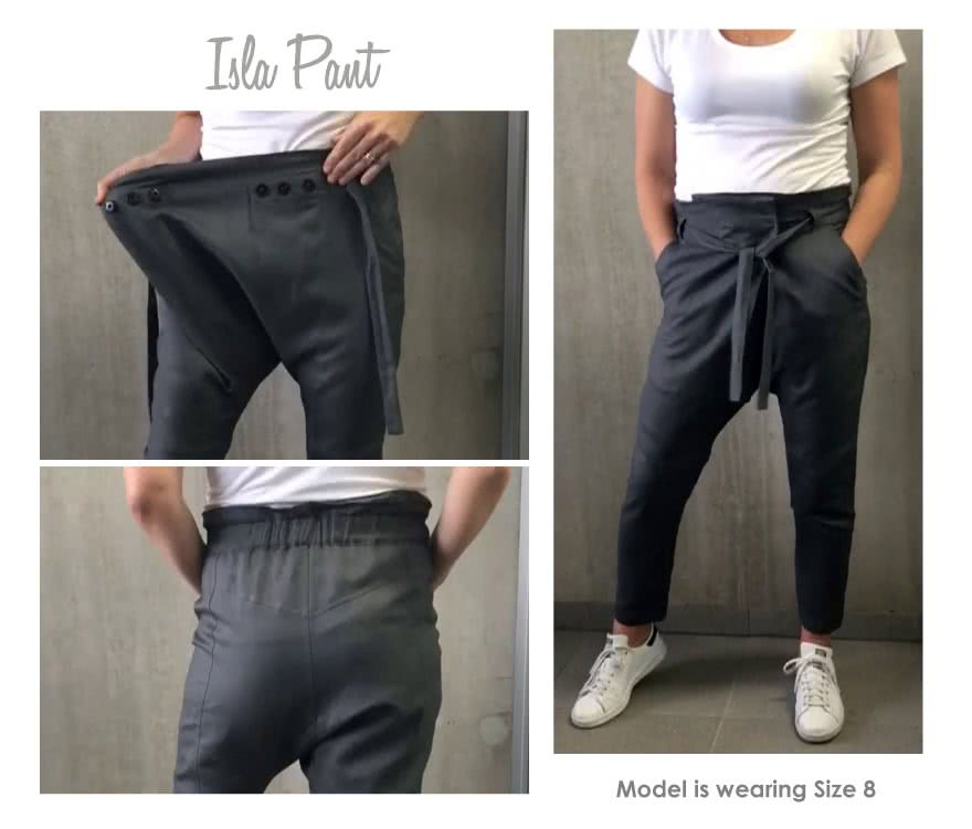 Isla Pant Sewing Pattern By Style Arc - Easy fit wrap front pant