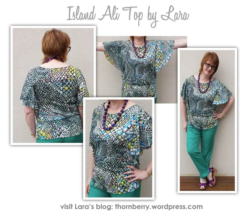 Island Ali Top Sewing Pattern By Lara And Style Arc - Flattering top with elastic waist and a flounce.