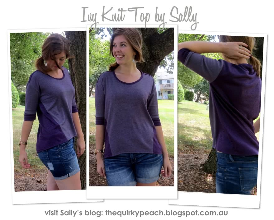 Ivy Knit Top Sewing Pattern By Sally And Style Arc - New square shape T-shirt with design lines