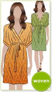 Jade Dress Sewing Pattern By Style Arc - Kaftan dress with Kimono style sleeve