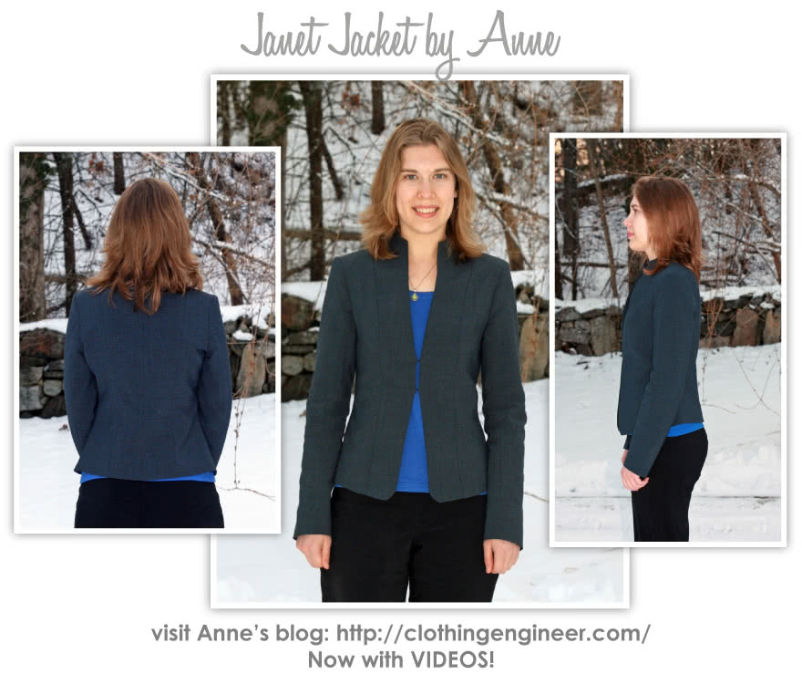 Janet Jacket Sewing Pattern By Anne And Style Arc - Great smooth shape lined jacket