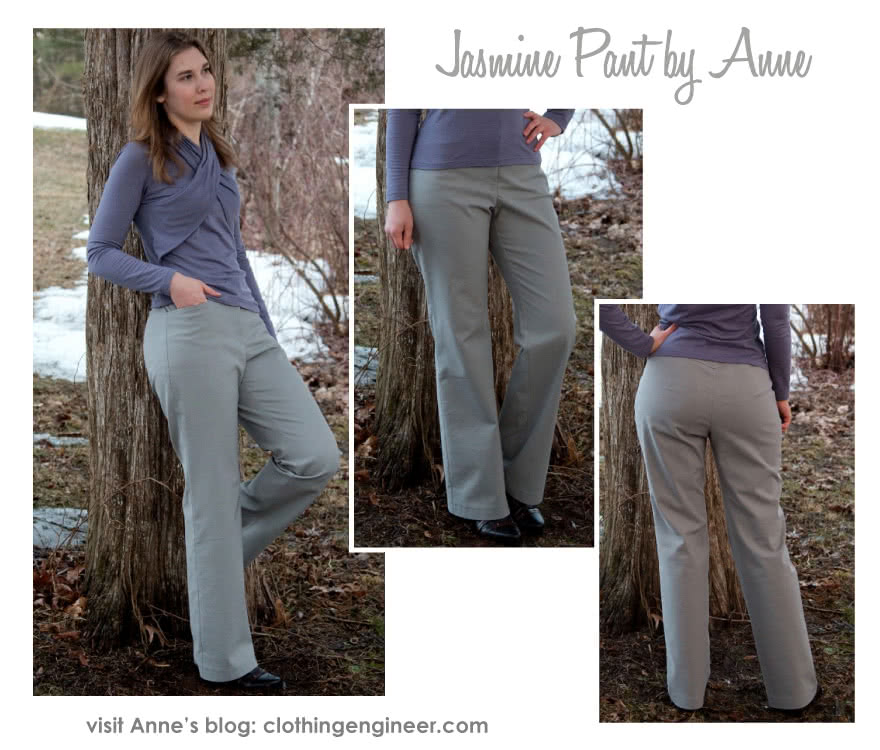 Jasmine Pant Sewing Pattern By Anne And Style Arc - Straight leg pant with fly front & angled pockets