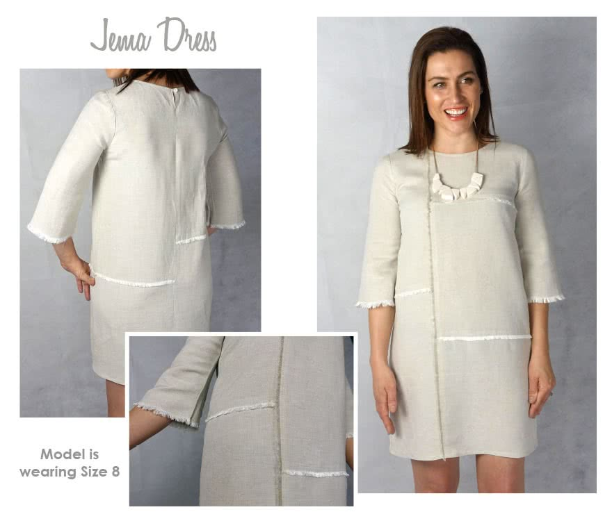 Jema Panel Dress Sewing Pattern By Style Arc