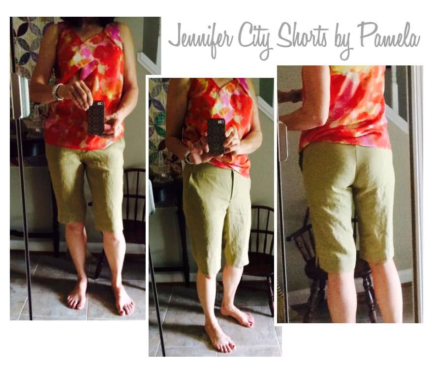 Jennifer City Shorts Sewing Pattern By Pamela And Style Arc - On-trend long line slim city short