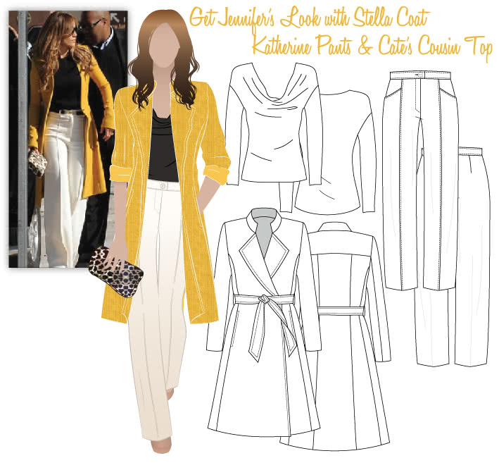 Jennifer's Look No.1 Sewing Pattern Bundle By Style Arc - Jennifer's Look 1 = Stella Coat, Katherine Pants & Cate's Cousin Top