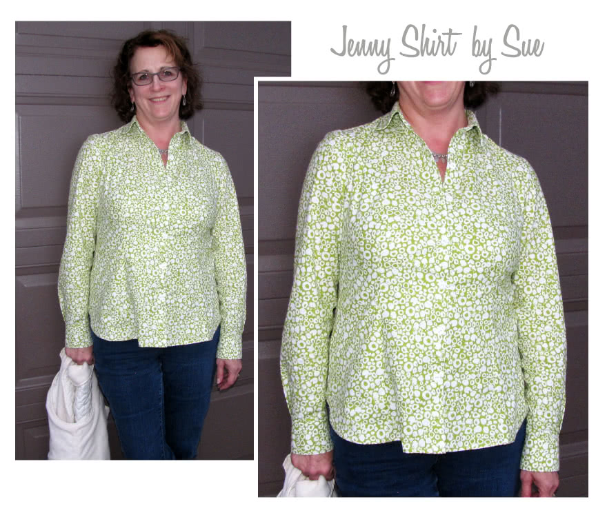 Jenny Shirt Sewing Pattern By Sue And Style Arc - Tailored fitting shirt - great in crisp white