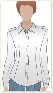 Jenny Shirt Sewing Pattern By Style Arc - Tailored fitting shirt - great in crisp white