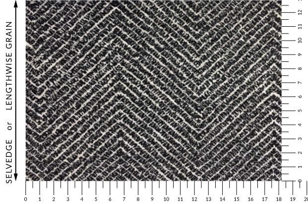 Jersey Knit - Herringbone Print Fabric By Style Arc - Style Arc Jersey Knit Fabric in Herringbone (print)