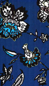 Jersey Knit - Blue Floral Fabric By Style Arc - Style Arc Jersey Knit Fabric in Blue Floral print