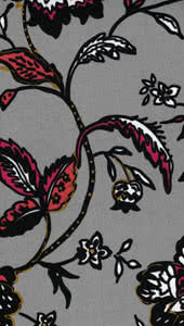 Jersey Knit - Grey Floral Fabric By Style Arc - Style Arc Jersey Knit Fabric in Grey Floral print