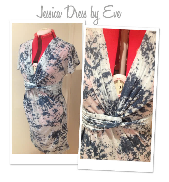 Jessica Dress Sewing Pattern By Eve And Style Arc - Fabulous new look twist dress