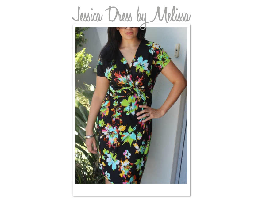 Jessica Dress Sewing Pattern By Melissa And Style Arc - Fabulous new look twist dress