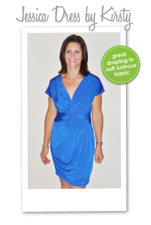 Jessica Dress Sewing Pattern By Kirsty And Style Arc - Fabulous new look twist dress