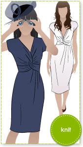 Jessica Dress Sewing Pattern By Style Arc - Fabulous new look twist dress