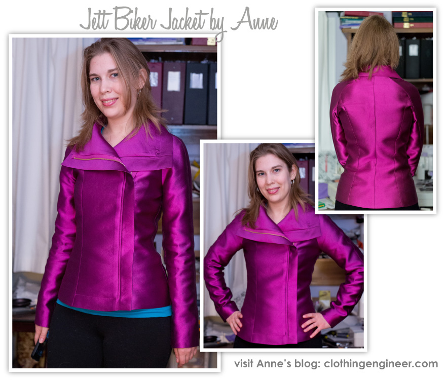 Jett Jacket: Collar and Hem Edge Construction Tutorial by Anne Kowalski