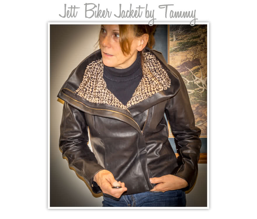 Jett Biker Jacket Sewing Pattern By Tammy And Style Arc - Biker jacket style with front concealed zip & fabulous exaggerated collar