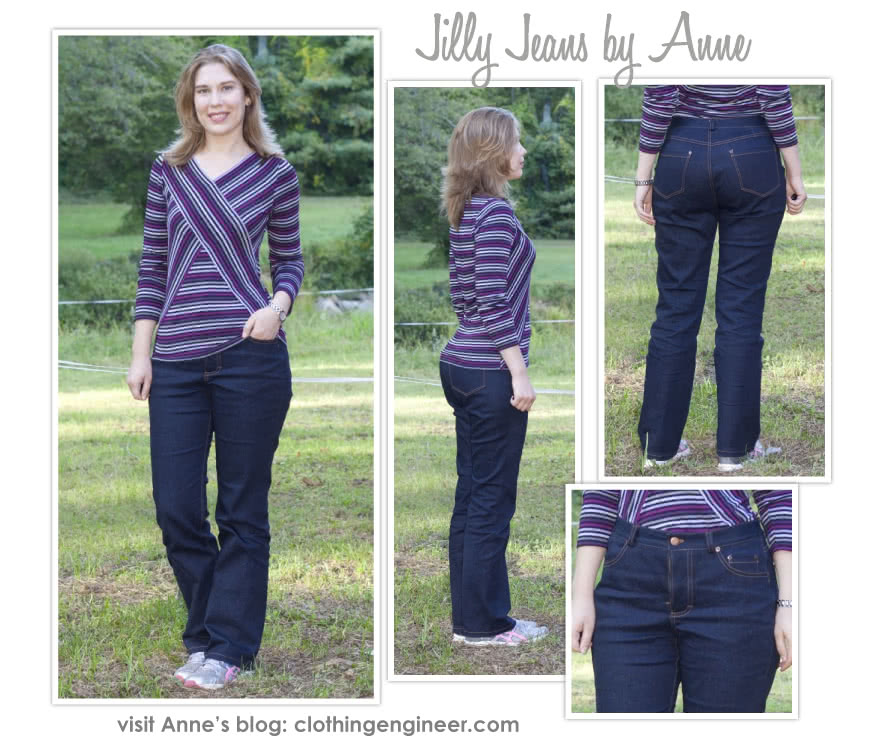 Jilly Jean Sewing Pattern By Anne And Style Arc - A must-have stretch denim basic jean