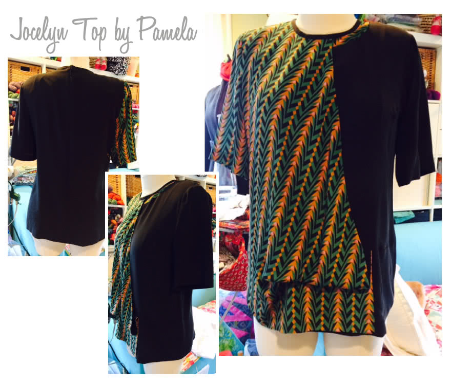 Jocelyn Woven Top Sewing Pattern By Pamela And Style Arc - Sophisticated draped overlay top