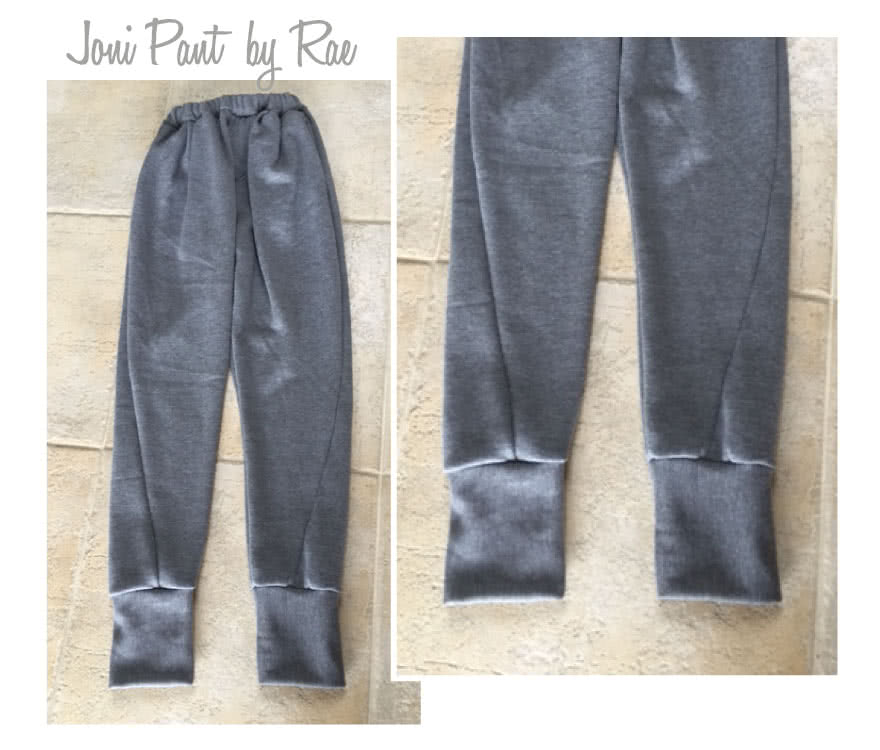 Joni Knit Track Pant Sewing Pattern By Rae And Style Arc - Stylish track pant with slight dropped crotch and curved leg seam