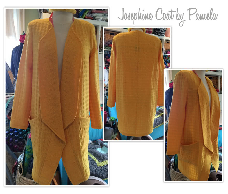 Josephine Coat Sewing Pattern By Pamela And Style Arc - Cocoon shaped collarless coat