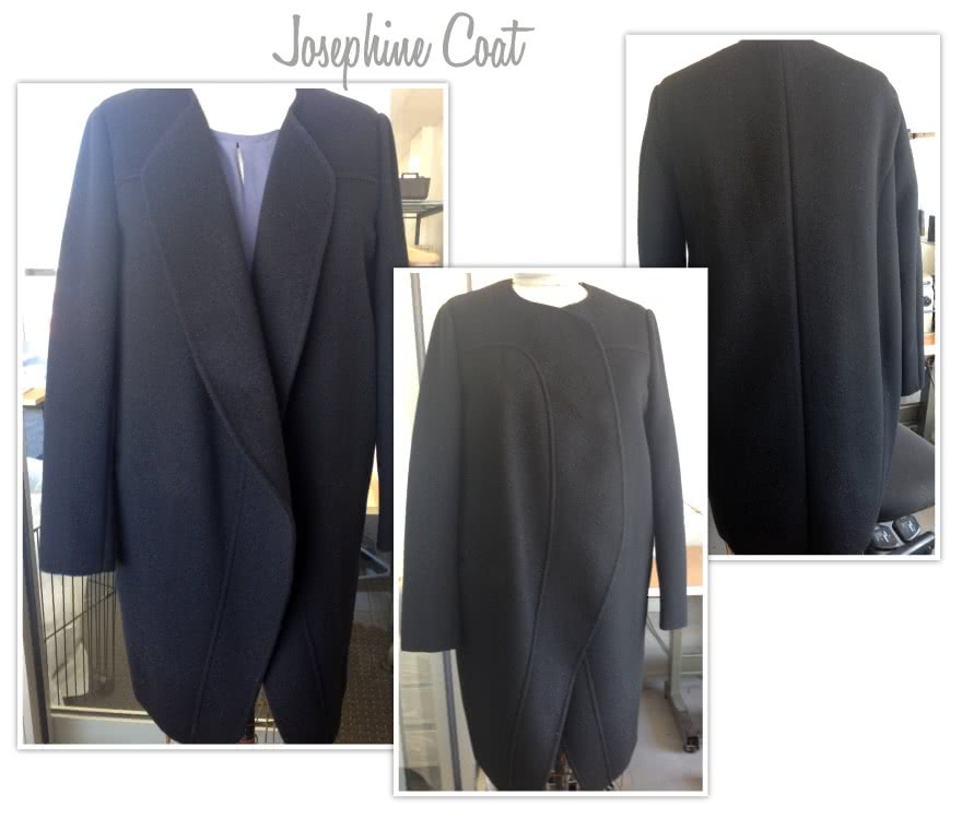 Josephine Coat Sewing Pattern By Style Arc - Cocoon shaped collarless coat