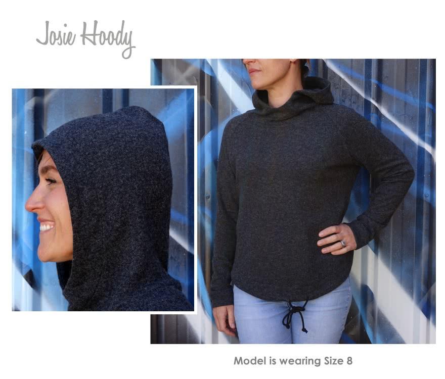 Josie Hoodie Sewing Pattern By Style Arc - Hooded sweater with raglan sleeves