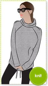 Josie Hoodie Sewing Pattern By Style Arc - Hooded sweater with raglan sleeves