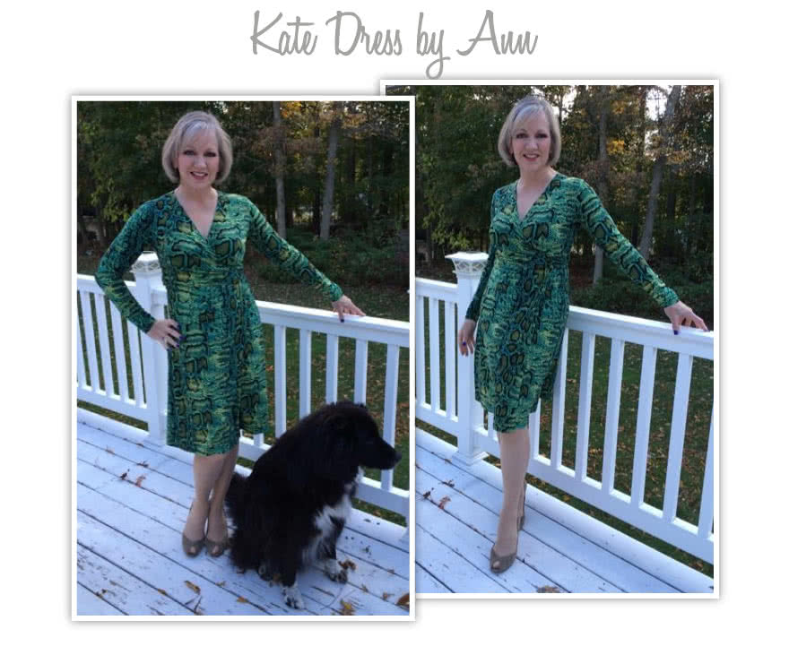 Kate Dress Sewing Pattern By Ann And Style Arc - Fabulous & flattering wrap dress