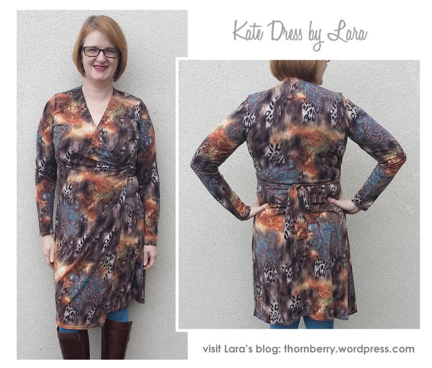 Kate Dress Sewing Pattern By Lara And Style Arc - Fabulous & flattering wrap dress