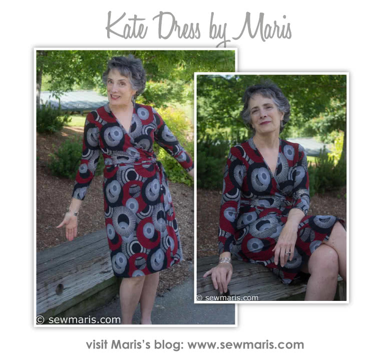 Kate Dress Sewing Pattern By Maris And Style Arc - Fabulous & flattering wrap dress