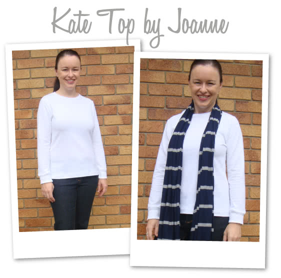 Kate Top Sewing Pattern By Joanne And Style Arc - Long sleeve top with rib cuff