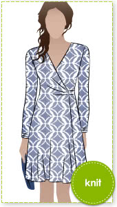 Kate Dress Sewing Pattern By Style Arc - Fabulous & flattering wrap dress